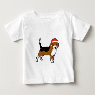Beagle with Santa hat Baby T-Shirt