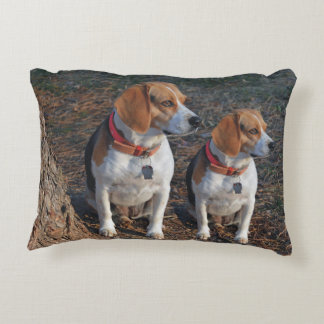 Beagles By The Tree Accent Pillow