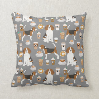 Beagles Coffee pillow cute dog design