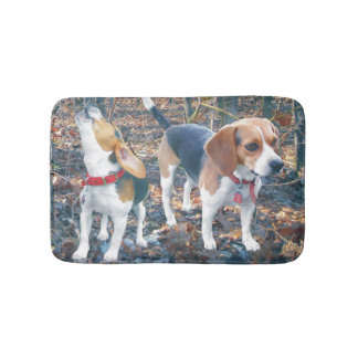 Beagles in the Woods Beagle Bath Mat