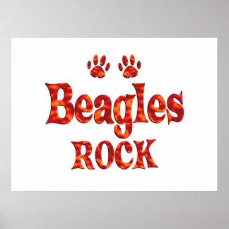 Beagles Rock Poster