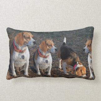 Beagles The More The Merrier Beagle Lumbar Pillow