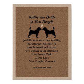 Beagles Wedding Invitation