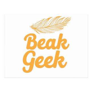 beak geek postcard