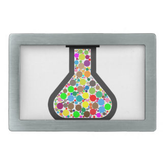 Beaker with Rainbow Chemicals Rectangular Belt Buckles
