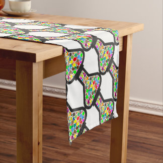 Beaker with Rainbow Chemicals Short Table Runner
