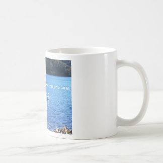 Beaks and webbed feet beat lines and lures coffee mug