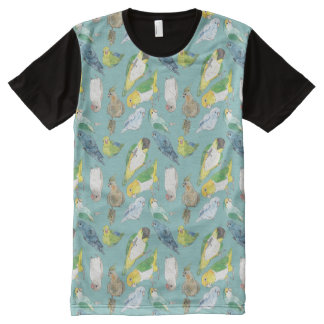 Beaky Birds Flock All-Over-Print T-Shirt