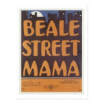 Beale Street Mama Vintage Songbook Cover Post Cards