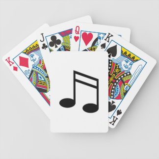 Beamed 16th Notes Bicycle Playing Cards