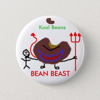 bean, bean, Kool Beans, BEAN BEAST 2 Inch Round Button