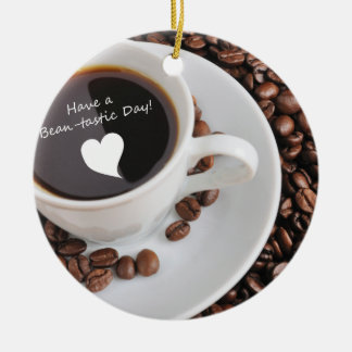 Bean-tastic Coffee Celebration Ceramic Ornament