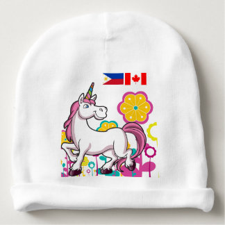 Beanie for babies of Filipino Canadians Baby Beanie