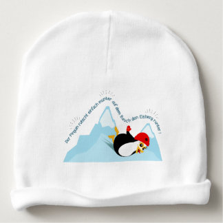 Beanie with penguin baby beanie