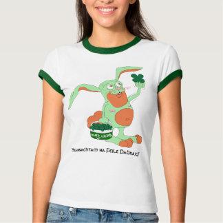'Beannachtam na Feile Padraig!'  Irish Hare. Shirts