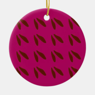 Beans on pink ceramic ornament
