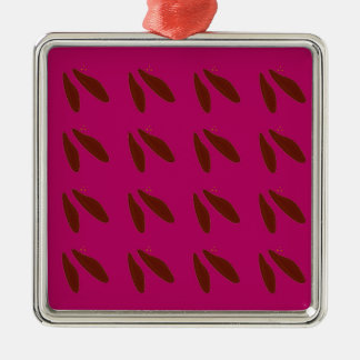 Beans on pink metal ornament