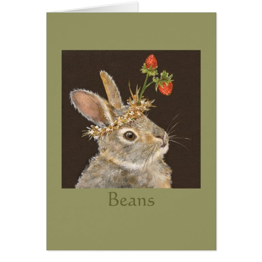 Beans the bunny notecard