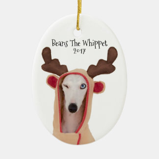 Beans The Whippet ornament