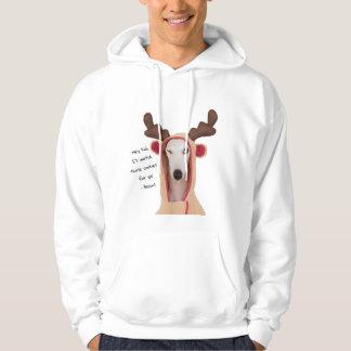 Beans Winking Reindeer (Cookie Thief) Hoodie