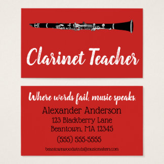 Beantown Clarinets Business Card