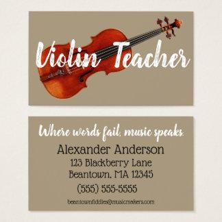Beantown Fiddles Business Card