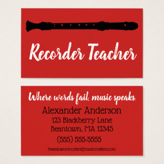 Beantown Recorders Business Card