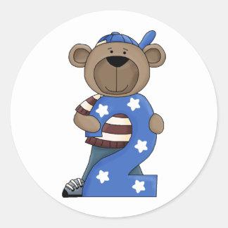 Bear 2 Year Old Classic Round Sticker