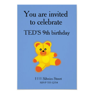 "Bear 3.5"" X 5"" Invitation Card"