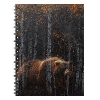 Bear 3 spiral note book