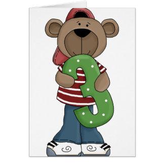 Bear 3 Year Old Card