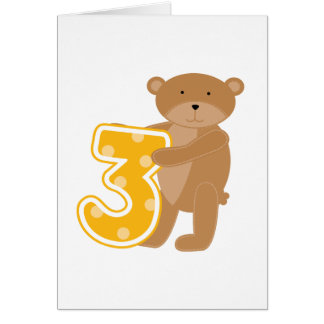 Bear 3rd Birthday T-shirts and Gifts Card