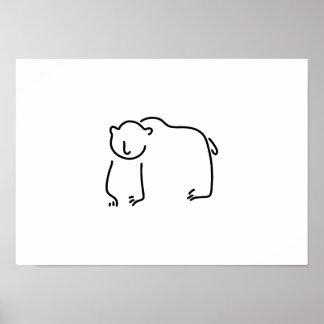 bear Alaska brown bear black bear Poster