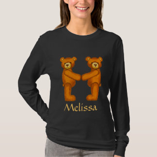 Bear Alphabet Letter M Initial~Custom Name~Shirt T-Shirt