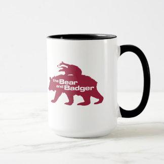 Bear and Badger Double Logo Mug