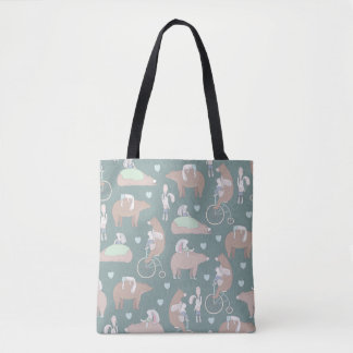 Bear and Bunny Tote Bag
