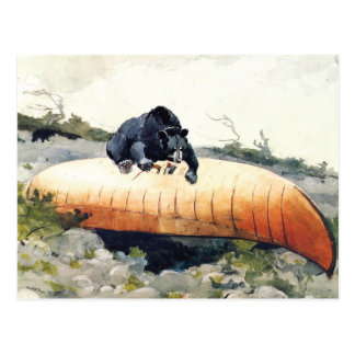 Bear and Canoe by Winslow Homer Postcard