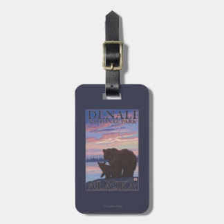 Bear and Cub - Denali National Park, Alaska Luggage Tag