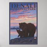 Bear and Cub - Denali National Park, Alaska Print