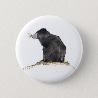 Bear and Dragonfly 2 Inch Round Button