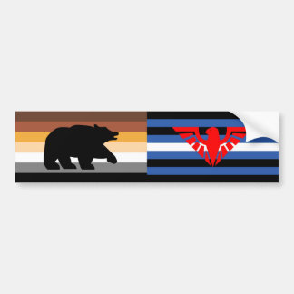 Bear and Eagle Pride Bumper Sticker