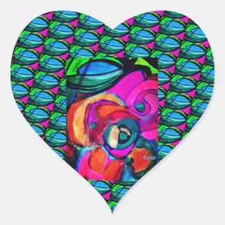 Bear And Grin It Heart Sticker