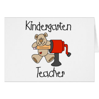 Bear and Sharpener Kindergarten Teacher Card