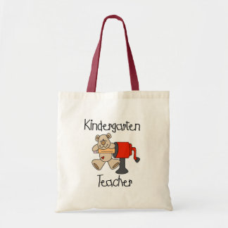 Bear and Sharpener Kindergarten Teacher Tote Bag