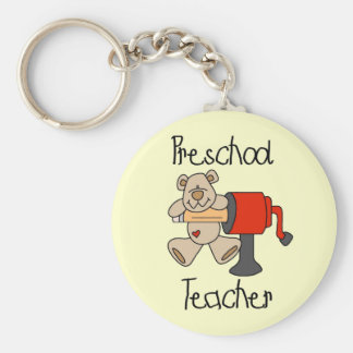Bear and Sharpener Preschool Teacher Keychain