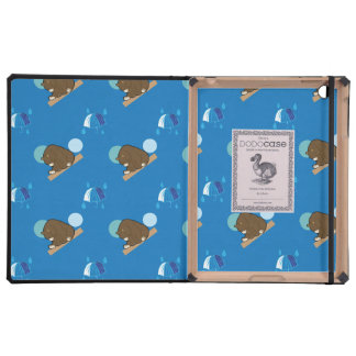 bear and umbrella pattern iPad covers