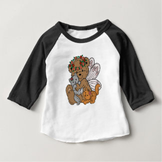 Bear Angel with Kittens Baby T-Shirt