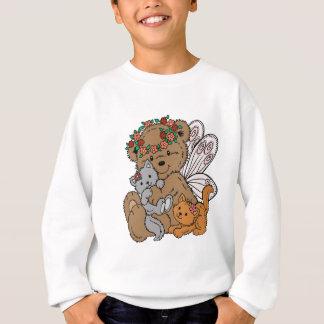 Bear Angel with Kittens Sweatshirt