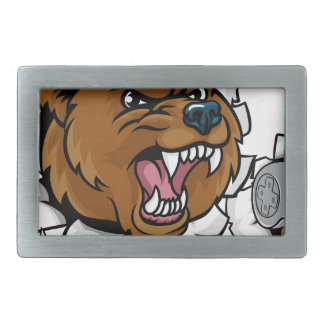 Bear Angry Esports Mascot Belt Buckle