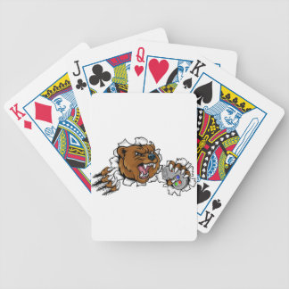 Bear Angry Esports Mascot Bicycle Playing Cards